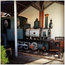 Locomotiva que trabalhou na construção de trecho da Noroeste do Brasil – NOB